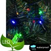 240 Λαμπάκια Led με μετασχηματιστή πράσινο καλώδιο πολύχρωμο φως