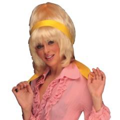 Περούκα Σούζαν 70's με κορδέλα σε τέσσερα χρώματα
