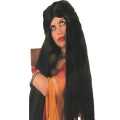 Περούκα Bollywood μαύρη μακριά