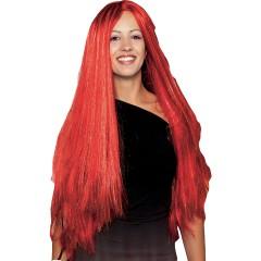 Περούκα Φωτιά μακριά ίσια κόκκινη