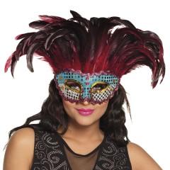 Μάσκα ματιών με φτερά πολύχρωμη Deluxe