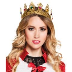 Κορώνα βασίλισσας deluxe μεταλλική