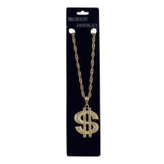 Κολιέ Δολάριο χρυσό με στράς