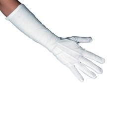 Γάντια λευκά μακριά 40εκ.