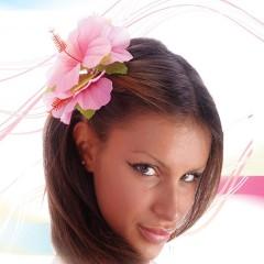 Λουλούδι Ροζ ιβίσκος για τα μαλλιά