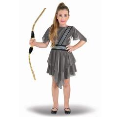 Στολή Θεά Άρτεμις ασημί για κορίτσια