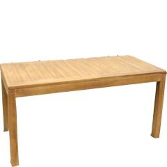 Τραπέζι 200x90εκ παραλληλόγραμμο σταθερό από ξύλο teak