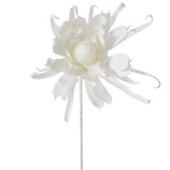 Κλαδί foam λουλούδι λευκό 90εκ