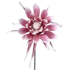 Κλαδί foam λουλούδι ροζ 90εκ