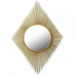 Καθρέπτης χρυσός μεταλλικός ρόμβος