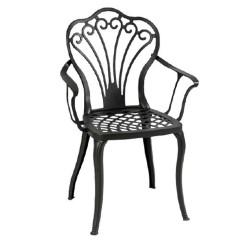 Πολυθρόνα αλουμινίου Queen φέρ φορζέ μαύρη