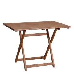 Τραπέζι 100x60εκ οξιά πτυσσόμενο παραλληλόγραμμο