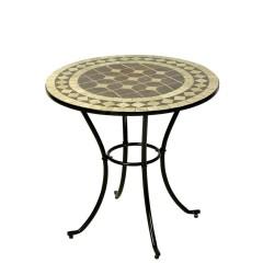 Τραπέζι Mosaic 60cm με μεταλλικό σκελετό