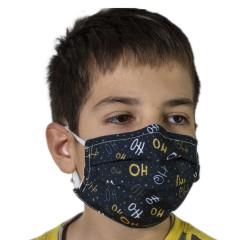 Υφασμάτινη μάσκα προστασίας μαύρη με χριστουγεννιάτικα σχέδια ho ho