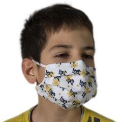 Υφασμάτινη μάσκα προστασίας λευκή με χριστουγεν. σχέδια new 2021