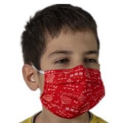 Υφασμάτινη μάσκα προστασίας κόκκινη με χριστουγεννιάτικα σχέδια