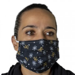 Υφασμάτινη μάσκα προστασίας ενηλίκων μαύρη με χριστ σχέδια new 2021