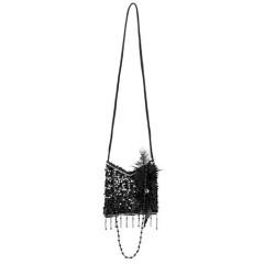 Τσάντα μαύρη με παγιέτες για Τσάρλεστον