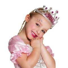 Στέμμα πριγκίπισσας ασημί για πάρτυ Happy Birthday