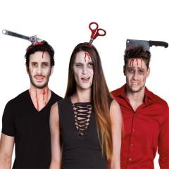 Στέκα τρόμου με αίμα σε τρία σχέδια