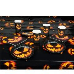 Σετ πάρτυ Halloween κολοκύθα μαύρο
