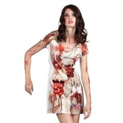 Στολή ζόμπι νύφη φόρεμα με τύπωμα realistic