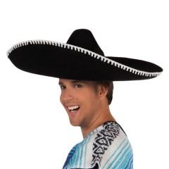 Καπέλο Μεξικανού μαύρο Deluxe