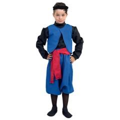 Στολή Κρητικός μπλε για αγόρια παραδοσιακή