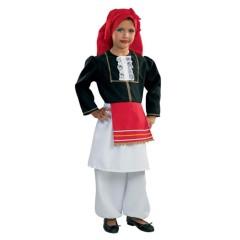 Στολή Κρητικοπούλα για κορίτσια παραδοσιακή