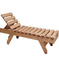 Ξαπλώστρα ξύλινη 253 φυσικό χρώμα
