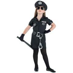 Αστυνομικίνα δυναμική στολή για κορίτσια με φόρεμα