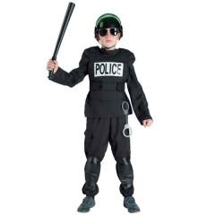 Αντιτρομοκρατική ομάδα στολή για αγόρια με Ολόσωμη φόρμα γιλέκο και επιγονατίδες