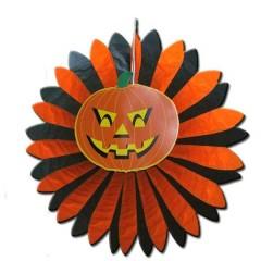 Γιρλάντα happy Halloween Ήλιος με Κολοκύθα Ø 60cm