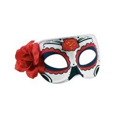 Μάσκα ματιών υφασμάτινη the day of the dead με λουλούδι