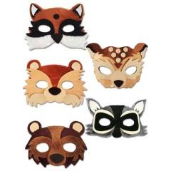 Μάσκα velvet άγρια ζώα του δάσους σε πέντε σχέδια