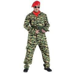 Κομάντο αντρική στολή ενηλίκων στρατιώτης