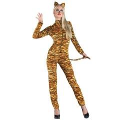 Τίγρη γυναικεία στολή ενηλίκων ολόσωμη