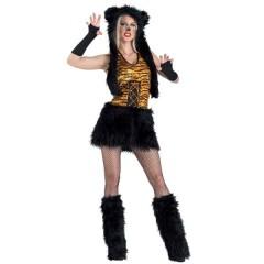 Funky Tiger γυναικεία στολή Τίγρης με φούστα και flufies