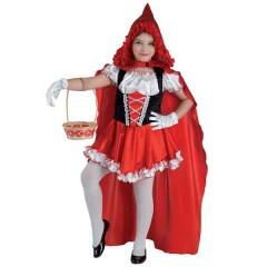 Κοκκινοσκουφίτσα στολή για κορίτσια με μακριά κάπα