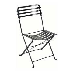 Ζαππείου καρέκλα παραδοσιακή μεταλλική πτυσσόμενη σε μαύρο χρώμα