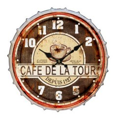 Ρολόι τοίχου Ø31cm cafe de la tour