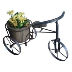 Ξύλινο ποδήλατο τρίκυκλο  θήκη για γλάστρα 60x32x38cm