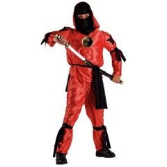 Ninja Κόκκινος στολή για αγόρια με ενισχυμένο θώρακα