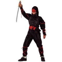 Ninja μαύρος Με Μυώδη Θώρακα στολή για αγόρια