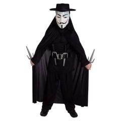 Εκδικητής V for Venteta στολή με μάσκα για αγόρια