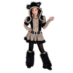 Fancy Tiger μοδάτη στολή τίγρης για κορίτσια με κουκούλα & χνουδωτές γκέτες