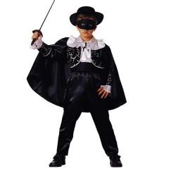 Μαύρος Καβαλάρης στολή Ζορό για αγόρια