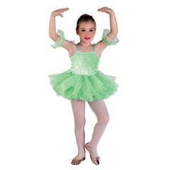 Μπαλαρίνα στολή για μικρά κορίτσια σε Πράσινο χρώμα