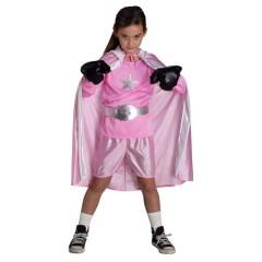 Μποξέρ ροζ στολή αθλητή με κάπα για δυνατά κορίτσια