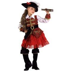 Πειρατίνα Των 7 Θησαυρών στολή για κορίτσια  με δαντελένια φούστα
